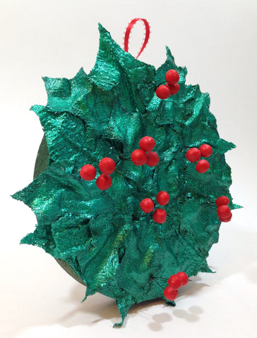 holiday craft with plaster cloth