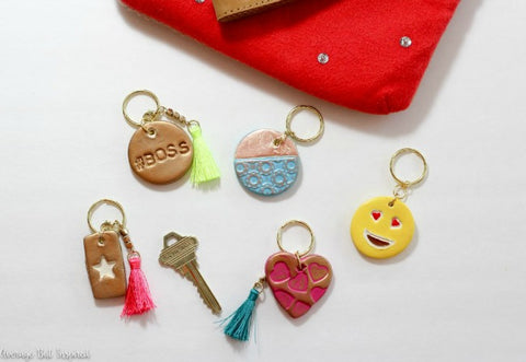 Bre from Average But Inspired used PLUS Clay air dry clay to make these keychains.