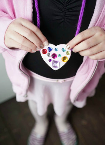 finished air dry clay pendant necklace for girls