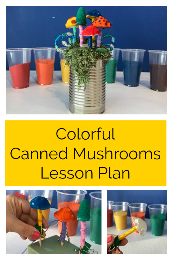 Click to see this free lesson plan that teaches students how to create beautiful micro-sculptures with every day items!  It also introduces them to casting and color theory.  #lessonplan #artlessonplan #artteacher