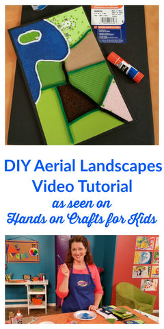 In this video you'll learn how to make a DIY aerial landscape scene with colored sand.  This is a great lesson for art classes and kids of all ages!