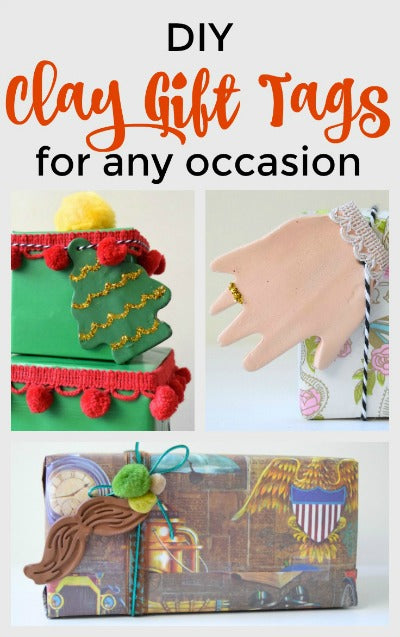 Learn how to make DIY Clay Gift Tags for any occasion with this fun tutorial!  Use Activ Clay from <em>ACTÍVA</em> Products to make durable and beautiful tags that anyone will love!