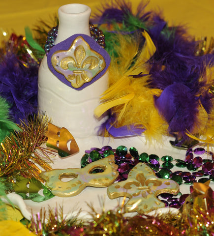 madi gras beads air drying clay clay tutorial