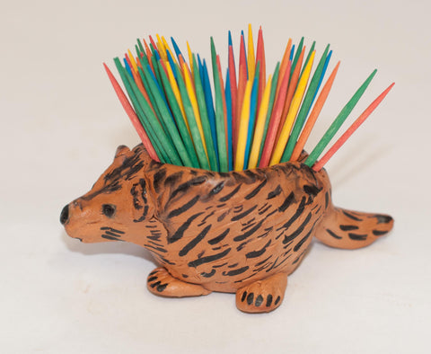 Prickly Porcupine Toothpick Holder Using Plus Air Dry Clay