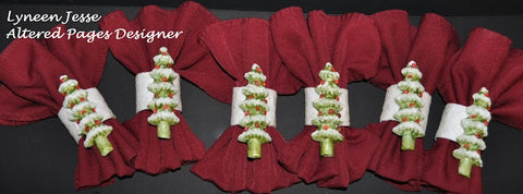 Fast Mache Christmas Tree Napkin Rings Designed By Lyneen Jesse