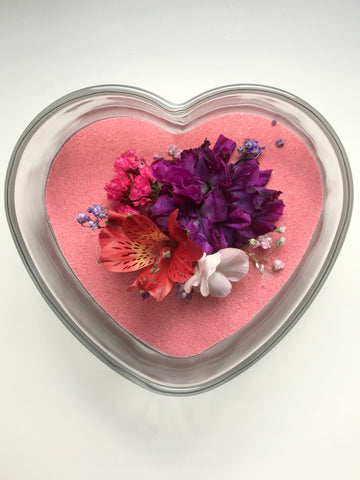 Make a dried flower and colored sand centerpiece for your home or party decor!