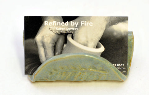 Stoneware Clay - Creative Card Holder Using Blackjack Clay - Designed by Karen Lowrey