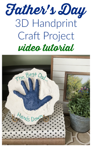 Make dad a unique 3D handprint craft for Father's Day!  He'll love this special Father's Day gift that your kids will have fun making!