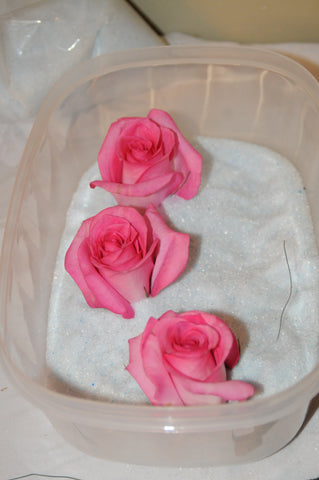 It's easy to dry and preserve flowers with this tutorial that shows you how to use Flower Drying Art silica gel to dry flowers.  Dry your keepsake flowers like a wedding bouquet so easily!