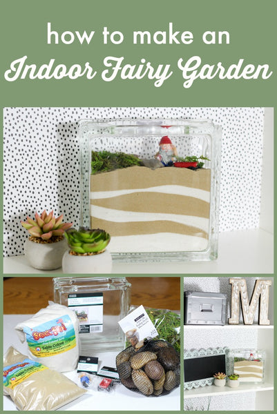 Learn how to make an indoor fairy garden with this easy tutorial!  This is a fun project for all ages and allows you to get as creative as you want!