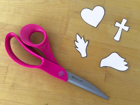 Cut out the various shapes with scissors.