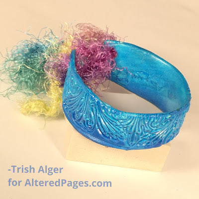blue polymer clay jewelry project bracelet
