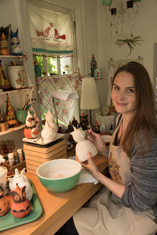 Folk artist Johanna Parker is the first artist being featured by <em>ACTÍVA</em> Products in its Artist Spotlight Series.  Johanna's work with CelluClay instant paper mache is incredible!