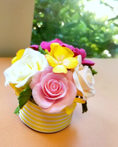 Artist Julia Dogan creates beautiful air dry clay flower bouquets with Hearty Clay.