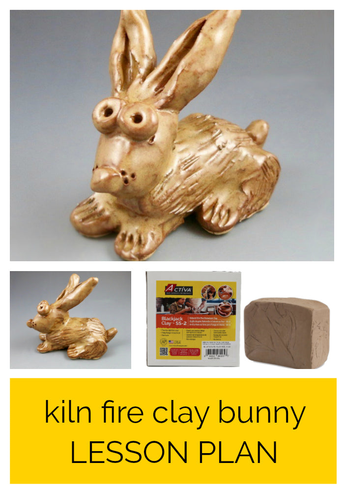 Download this free art lesson plan and your students will enjoy sculpting their own bunnies with Blackjack Clay.  This kiln fire clay lesson plan is great for most elementary and middle school art rooms!