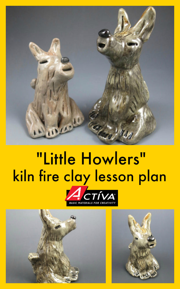 Download this kiln fire clay lesson plan!  Your art students will love answering the call of the wild with this fun clay lesson plan.  #pottery #lessonplan #artclass