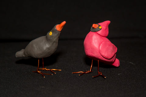 Birds of a Feather Using Color Plus Air Dry Clay