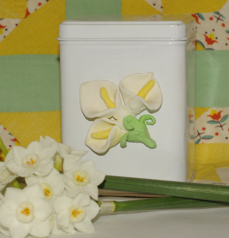 air dry clay flowers lily project