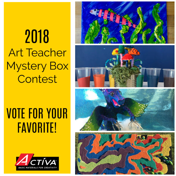 Vote for your favorite art teacher lesson plan in the 2018 Art Teacher Mystery Box Contest, sponsored by <em>ACTÍVA</em> Products!