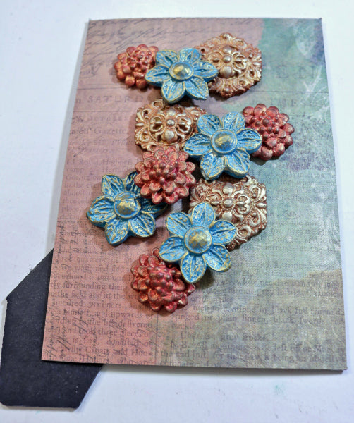 Create fabulous floral artwork with InstaMold and PermaStone!