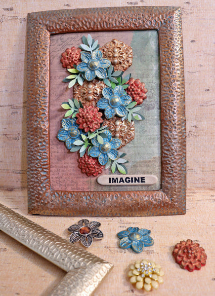 Use thrifted or craft store jewelry and an old frame to create gorgeous 3D floral artwork with InstaMold and PermaStone!  This beginner casting project is a great way to experience molding and mold-making with gorgeous results!