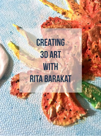 Learn how to create beautiful mixed media 3D art with Rigid Wrap and Hearty Clay.