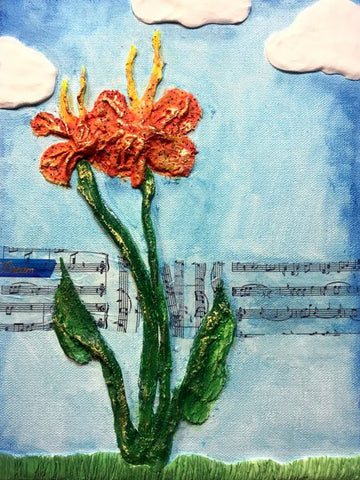 Learn how to create beautiful 3D mixed media art with Rigid Wrap and Hearty Clay.