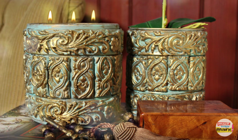 DIY Baroque Candle with Premier Clay by Mark Montano