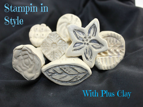 how to make air dry clay stamps