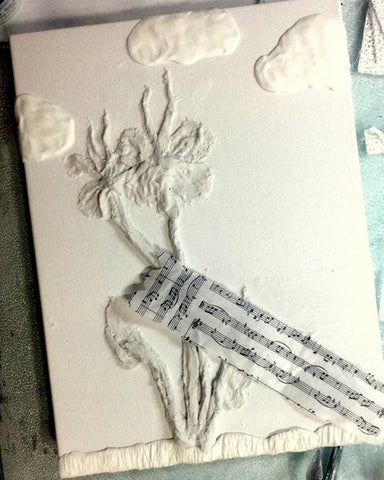 Learn how to make gorgeous 3D mixed media art with Rigid Wrap and Hearty Clay.