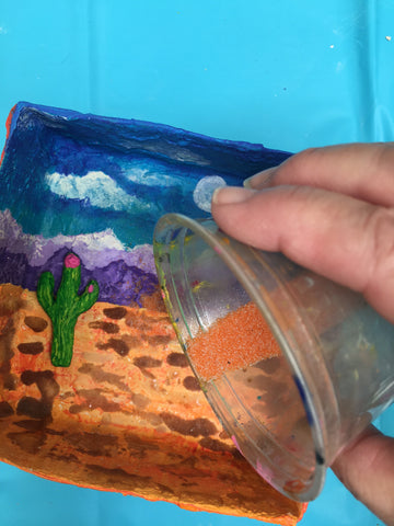 Art teacher Tracy Evans created a unique Biome Box as her submission for the <em>ACTÍVA</em> Products Art Teacher Mystery Box contest.  Get her full lesson plan here.