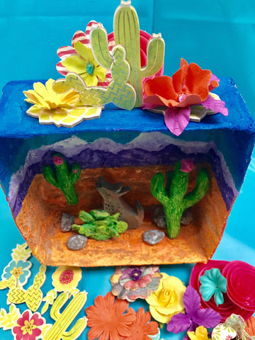 Teacher Tracy Evans created a unique Biome Box for her entry in the <em>ACTÍVA</em> Products Art Teacher Mystery Box Contest.