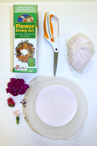 Use these supplies to create beautiful dried flower art.