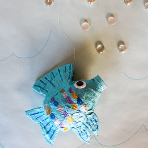 Make a Water Bottle Fish Sculpture with Rigid Wrap Plaster Cloth