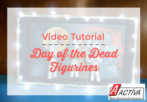 Learn how to make Day of the Dead Figurines with clay in this fun video tutorial!