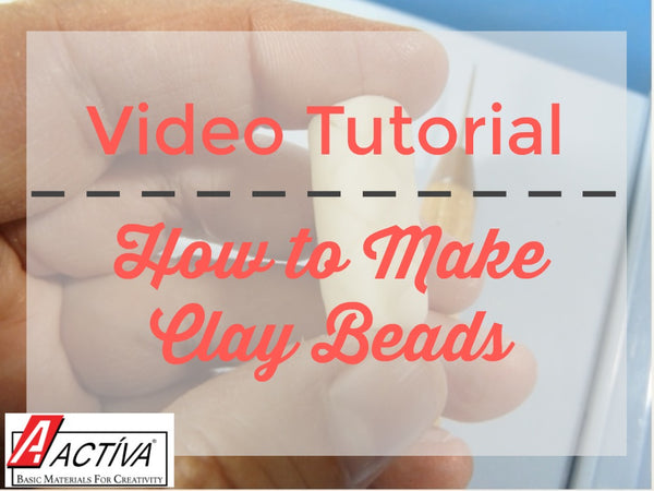 Learn how to make clay beads with this video tutorial.