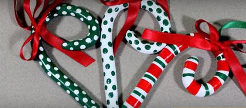 Air Dry Clay Christmas Candy Canes