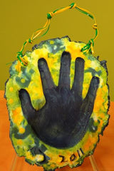 Tie Dye Hand Tile With Hearty Air Dry Clay