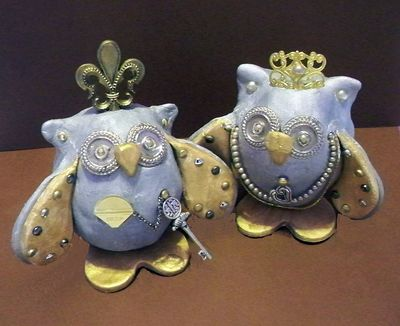 Use Hearty Clay or CelluClay to make The Royal Couple ~ designed by Debra Quartermain