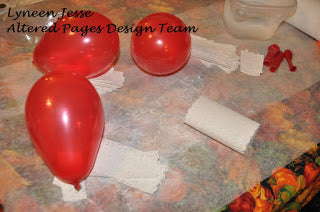 balloon project with plaster gauze