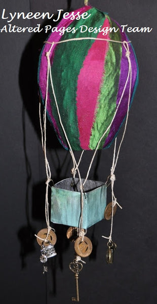 Sari Silk Hot Air Balloon By Lyneen Jesse  of Altered Pages