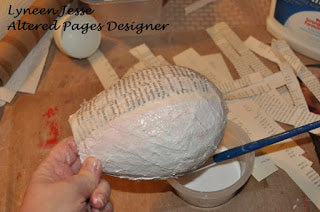 plaster cloth balloon craft project vintage style
