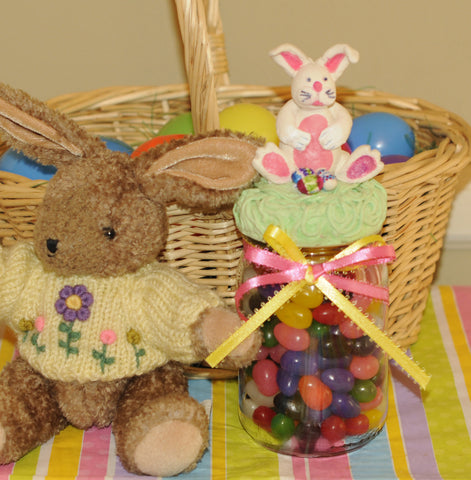 finished Easter craft tutorial make a bunny