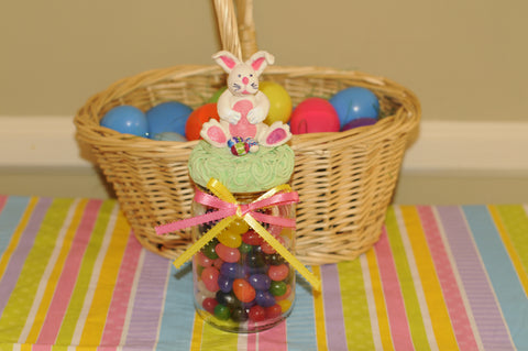 Easter Bunny Candy Jar with La Doll Premix air dry clay