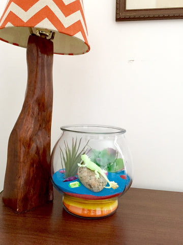 make a terrarium for kids with colored sand