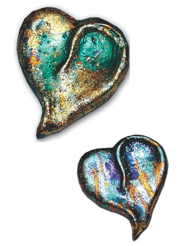 Make a beautiful heart pin with air dry clay!
