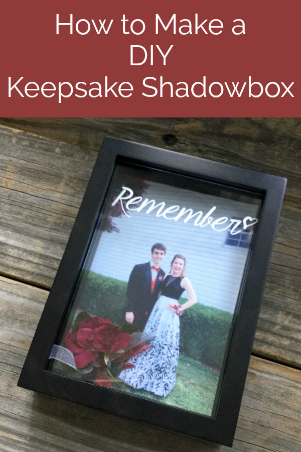 Preserve memories from your wedding, prom, or other special events with this beautiful keepsake shadowbox project!  Learn how to dry flowers to preserve them and to add text to a shadowbox for a special keepsake!