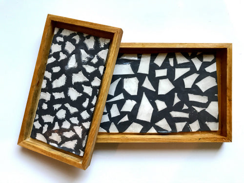 Learn how to make your own terrazzo trays with air dry clay!