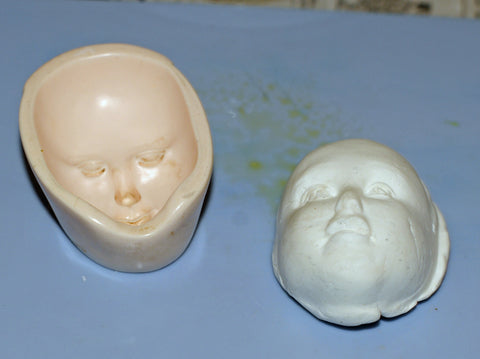 modeling clay in a mold