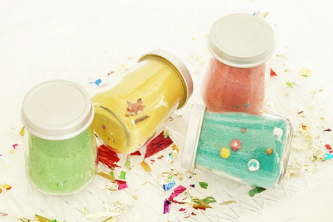 Colored Sand Find and Seek Party Jars